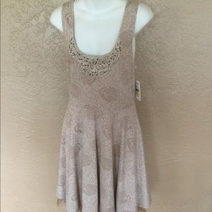 Free People Beaded Tulle Dress NWT Urban Outfitter